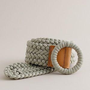 J. Crew braided cream belt